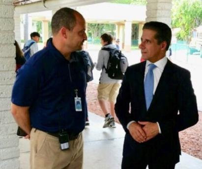 Mr. Carvalho, Superintendent and Mr. Penton, Principal