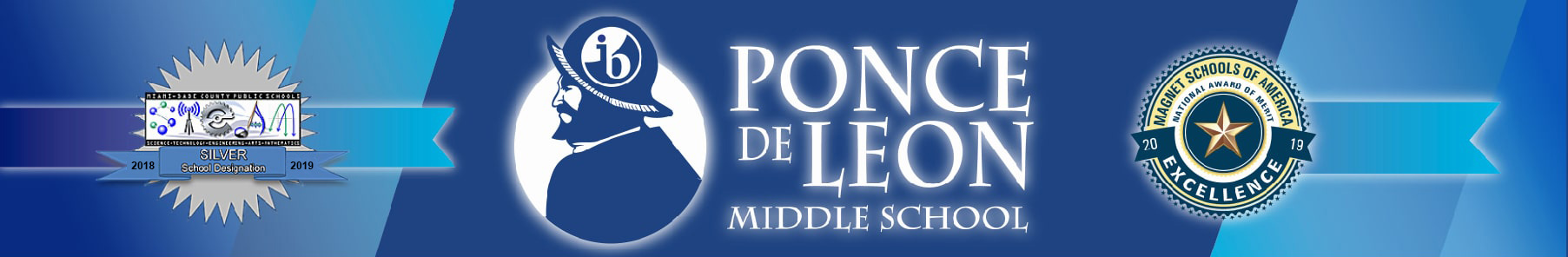 Ponce De Leon Middle School – Coral Gables, Florida Logo